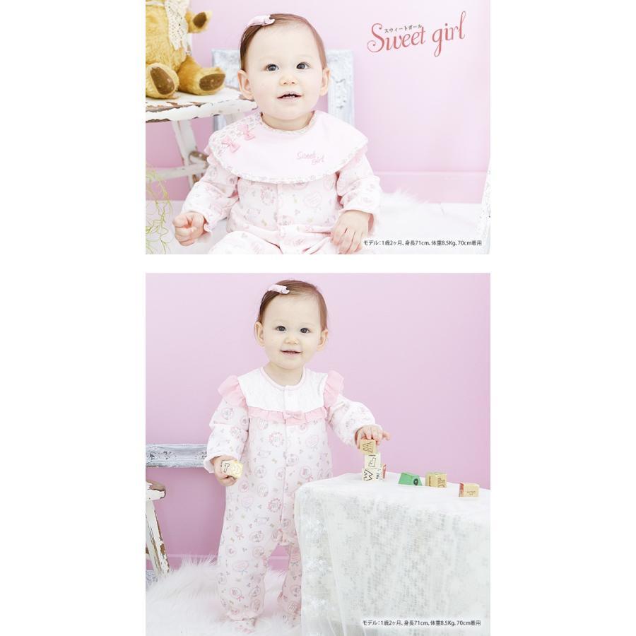 96a7782afa331 ベビー服 赤ちゃん 服 ベビー カバーオール 女の子 70 80 スタイ ...