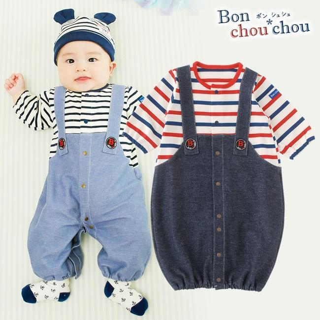 0908f10d41a49 ベビー服 赤ちゃん 服 ベビー ツーウェイオール 男の子 新生児  ボン ...