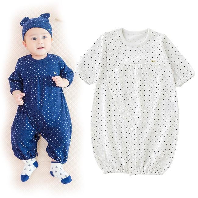 ベビー服 赤ちゃん 服 迅速な対応で商品をお届け致します ベビー ツーウェイオール ボンシュシュ長袖ツーウェイオール 女の子 2wayオール 男の子 新生児 大幅にプライスダウン