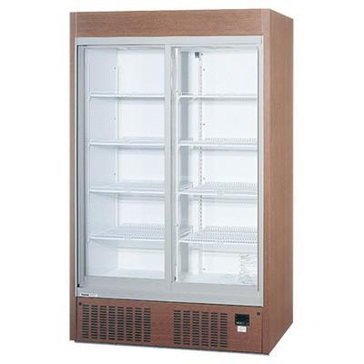 SRM-RV419MB パナソニック 冷蔵ショーケース リーチインショーケース スライド扉 木目調 送料無料