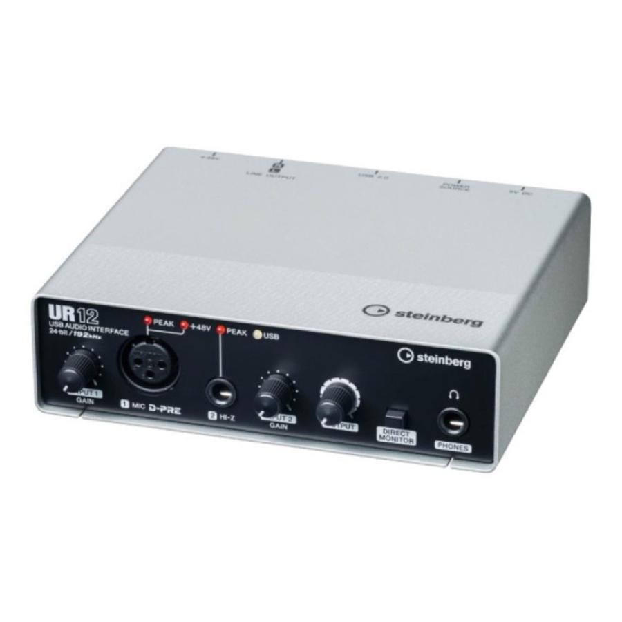 Steinberg UR12 オーバーのアイテム取扱☆ USBオーディオインターフェース 2×2 新作送料無料