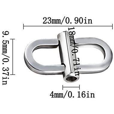 バッグチェーン 調節バックル ショルダー 長さ調節用 アクセサリー 美観 ステンレス 2個セット(3色) chy 05