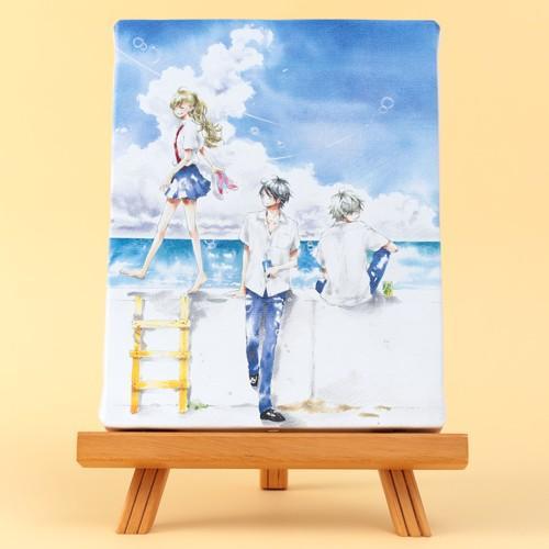 【直筆サイン入りブロマイドつき!!】千葉コズエ先生「1/3 さんぶんのいち」イーゼル付きキャンバスアートA(中)|ciao-shop