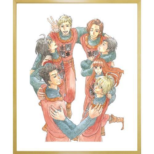 岩本ナオ先生直筆サイン入り超高画質複製原画プリマグラフィ「マロニエ王国の七人の騎士A」(サイズ小) ciao-shop