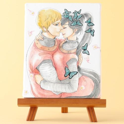 岩本ナオ先生「マロニエ王国の七人の騎士」イーゼル付きキャンバスアートA(中) ciao-shop
