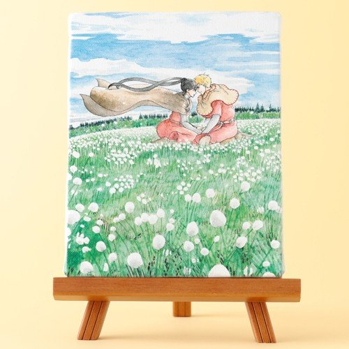 岩本ナオ先生「マロニエ王国の七人の騎士」イーゼル付きキャンバスアートB(中) ciao-shop