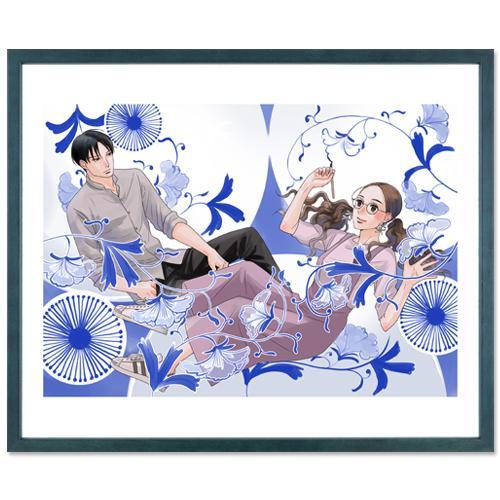 小玉ユキ先生直筆サイン入り超高画質複製原画プリマグラフィ「青の花 器の森」(サイズ八つ切)|ciao-shop