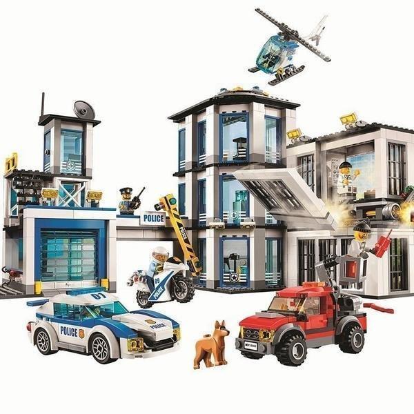 LEGO互換 シティ 格安 レゴシティ ポリスステーション 警察署 子供の日プレゼント クリスマスプレゼント 商品追加値下げ在庫復活