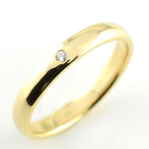 贅沢 メンズ リング ダイヤモンド イエローゴールドk18 結婚指輪 シンプル k18 ダイヤ ダイヤモンド リング 結婚指輪 甲丸 ハンドメイド 甲丸 18k 18金 一粒 3mm プレゼント, オオミヤチョウ:83bd1c1a --- bit4mation.de
