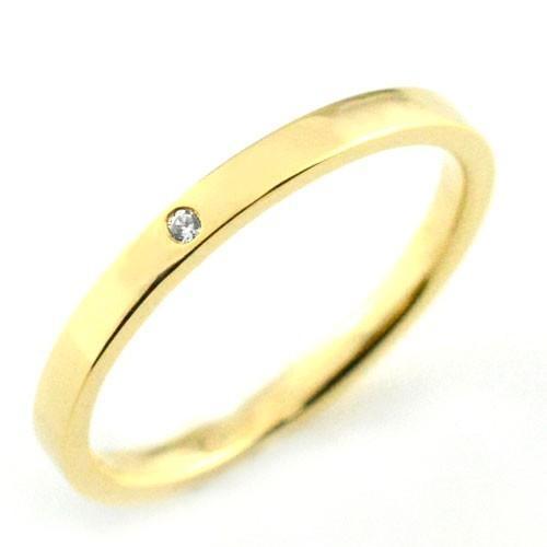 超可爱の メンズ 地金リング k18 リング ダイヤモンド ストレート k18 指輪 イエローゴールドk18 シンプル ストレート 平打ち 地金リング ダイヤ 結婚指輪 エンゲージリング, 滝上町:479950c8 --- bit4mation.de