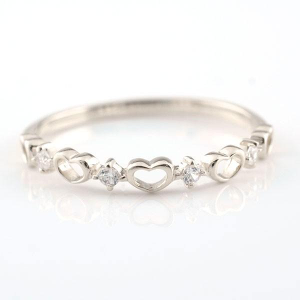 愛用 ダイヤモンド リング 指輪 ピンキーリング ハートの指輪 ハートピンキーリング ファランジリング ホワイトゴールドk18 ダイヤ, 星のチュロス 69817b1e