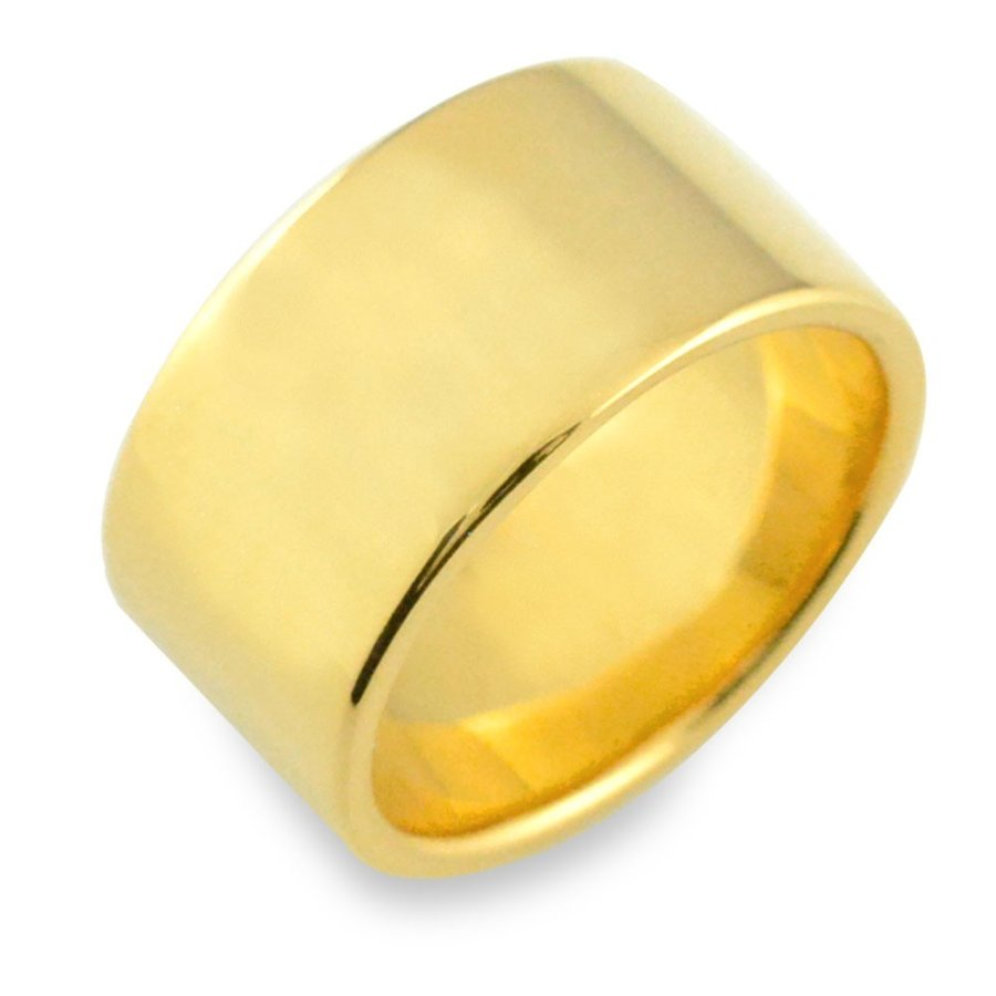 最高級 メンズ リング 18金 平打ちリング 幅広 10ミリ幅 イエローゴールドk18 指輪 ストレート ヒラウチ 地金リング 日本製 18k シンプル, くもくもスクエア ad3376a7