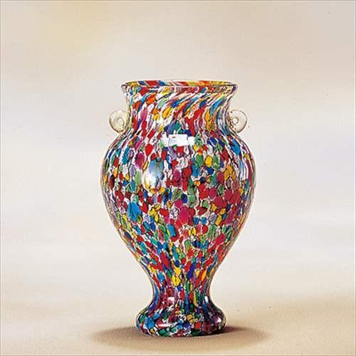 花器(小) 津軽びいどろ フラワーベース ねぶたまつり アデリア 直径13×19cm ガラス花びん ギフト雑貨 石塚硝子