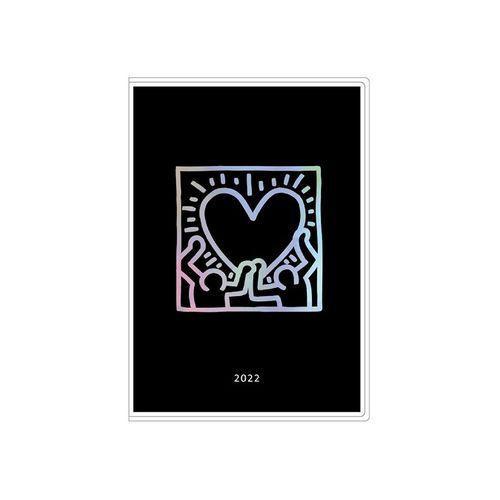 キース へリング Keith 新商品 Haring スケジュール帳 B7 マンスリー 2022 手帳 令和4年 新品未使用 手帖 ブラック ミニ