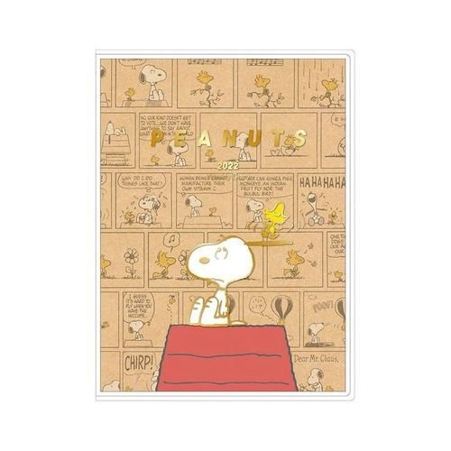 定番から日本未入荷 スヌーピー キャラクタースケジュール帳 好評受付中 B6 ウィークリー 手帳 2022年 クラフト 手帖 コミックデザイン ピーナッツ 令和4年
