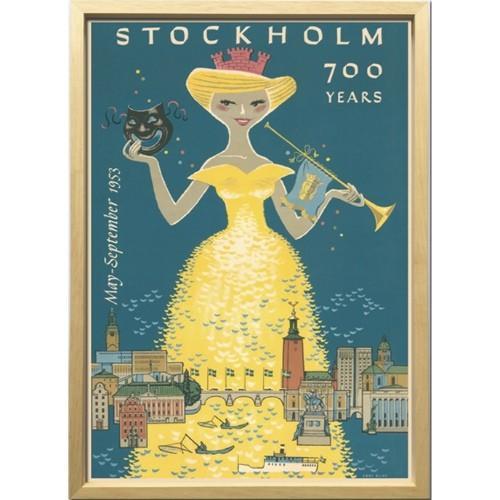 Scandinavian Art ストックホルム700周年 1953年 アートフレーム ZCS-52666 インテリア 北欧