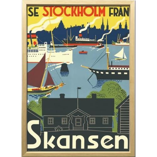 Scandinavian Art アートフレーム スカンセン 1955年 ZCS-52668 美工社 52.5×72.5×3cm