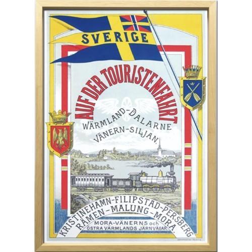 Scandinavian Art インテリア アートフレーム スウェーデン鉄道の旅 1900年初頭 ZCS-52669 北欧