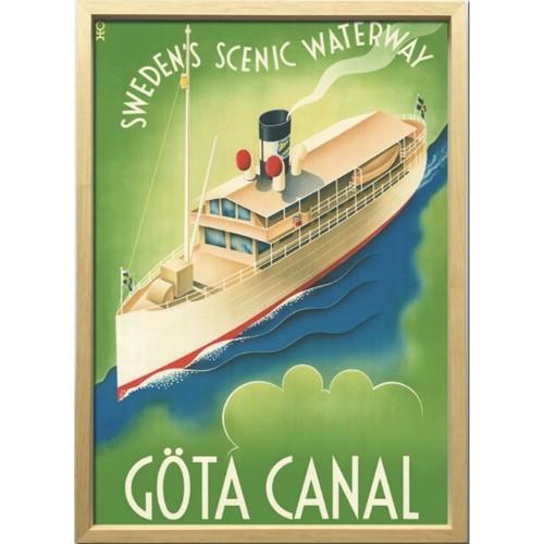 アートフレーム Scandinavian Art ヨータ運河 1936年 ZCS-52672 52.5×72.5×3cm 額付き 北欧