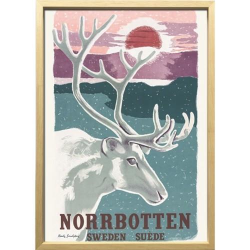 Scandinavian Art インテリア アートフレーム トナカイとノルボッテン 1952年 ZCS-52674 美工社 52.5×72.5×3cm