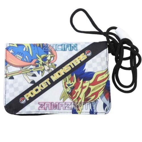 ポケモン グッズ クリップポーチ 人気ブランド多数対象 ポケットモンスター ついに入荷 ネックコード付き ミニ ブラック ウォレット サンアート お出かけ