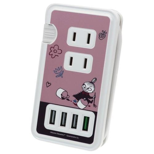 電源タップ ムーミン USBポート付き 最安値 ACタップ リトルミイ 返品交換不可 通販 北欧 グッズ