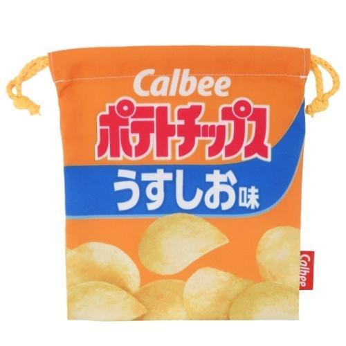 巾着袋 おやつマーケット キャラクター 超特価SALE開催 カルビー スピード対応 全国送料無料 ポテトチップス きんちゃくポーチ