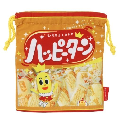 驚きの値段 巾着袋 キャラクター 亀田製菓 きんちゃくポーチ ハッピーターン 2020モデル おやつマーケット