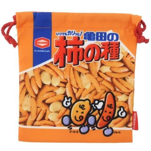 オンラインショッピング 亀田製菓 柿の種 巾着袋 きんちゃくポーチ キャラクター 小物入れ おやつマーケット 舗