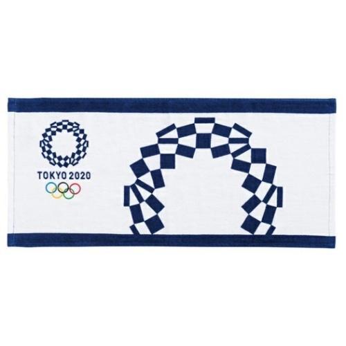 東京2020 まとめ買い特価 オリンピック グッズ フェイスタオル スポーツ プリント プレゼント 新品■送料無料■ 東京2020オリンピックエンブレム 2枚セット ロングタオル