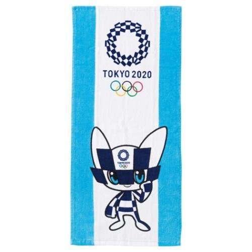 東京2020 オリンピック スポーツ プレゼント フェイスタオル 東京2020オリンピックマスコット ロングタオル シャーリング お得セット ミライトワ 2枚セット 全商品オープニング価格