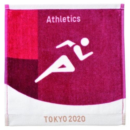 高い素材 東京2020 オリンピック インクジェットプリント ハンカチタオル ミニタオル お得なキャンペーンを実施中 グッズ スポーツ ピクトグラム 陸上競技 プレゼント