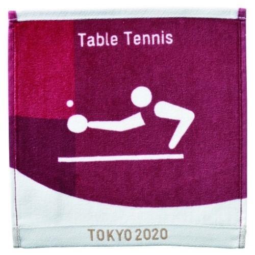 東京2020 オリンピック グッズ ミニタオル スポーツ プレゼント 毎週更新 インクジェットプリント 売却 ハンカチタオル ピクトグラム 卓球