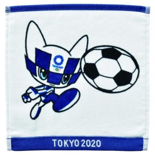 東京2020 オリンピック お得 グッズ ミニタオル スポーツ サッカー インクジェットプリント 新生活 ミライトワ ハンカチタオル プレゼント