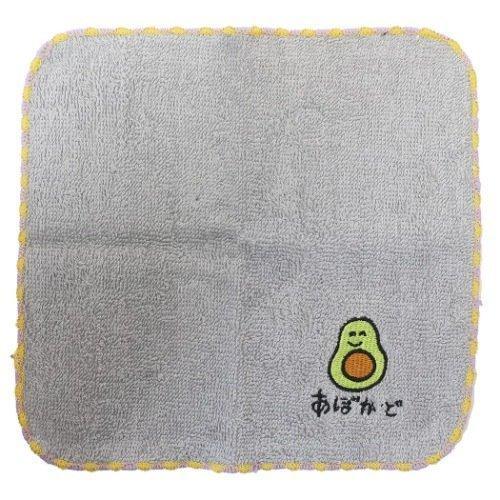 おえかきシリーズ ワンポイント 刺繍 4年保証 ハンカチタオル グッズ きもかわ 超歓迎された ミニタオル あぼかどさん