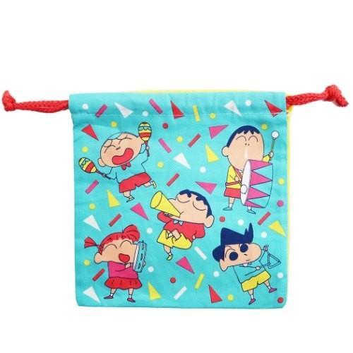 クレヨンしんちゃん 巾着袋 アニメキャラクター 送料無料激安祭 最安値に挑戦 グッズ くるまと楽器 きんちゃくポーチ