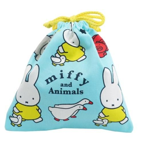 ミッフィー 絶品 巾着袋 きんちゃくポーチ アニマルブルー 新着セール スモールプラネット