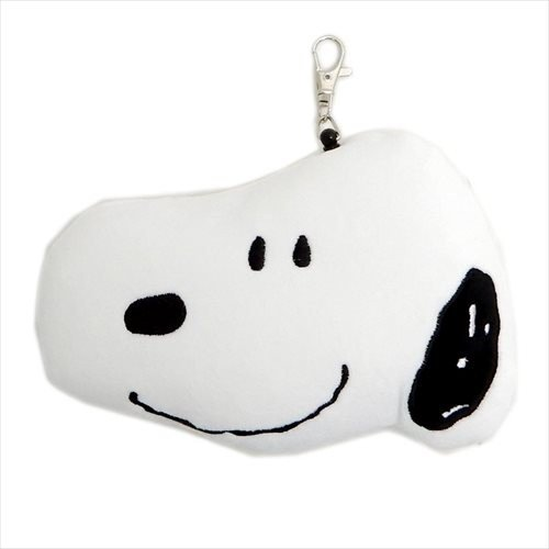 Japan Snoopy Reel Card Holder  Pass Case Black and White
