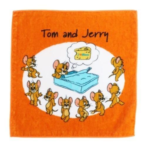 トムとジェリー グッズ 一部予約 ミニタオル ワーナーブラザース キャラクター ハンカチタオル ジェリー インクジェットプリント 店内限界値引き中 セルフラッピング無料 アイラブチーズ