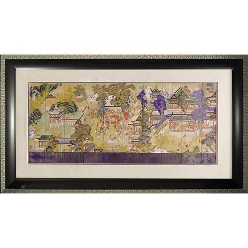 和風アート 郭子儀の宴 額付きポスター ユーパワー 99×56cm オリエンタル/浮世絵