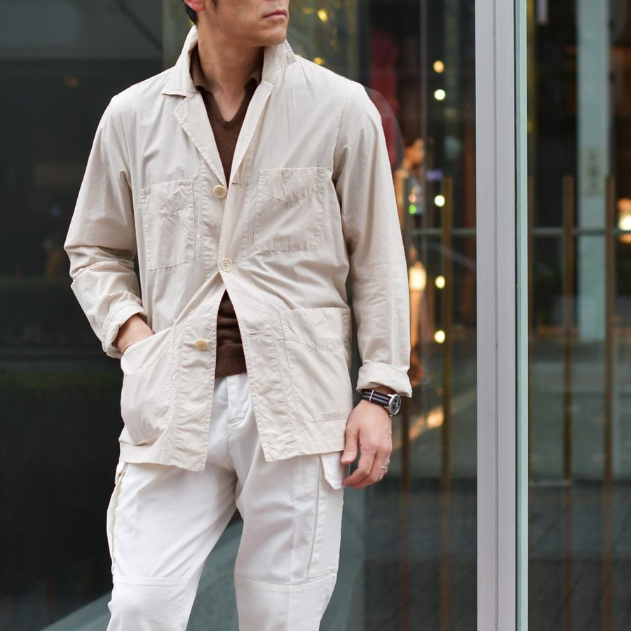【sizeS,M】ASPESI【アスペジ】ワークシャツジャケット 0192-ACJ24G329 5044 コットン ベージュ|cinqessentiel|09