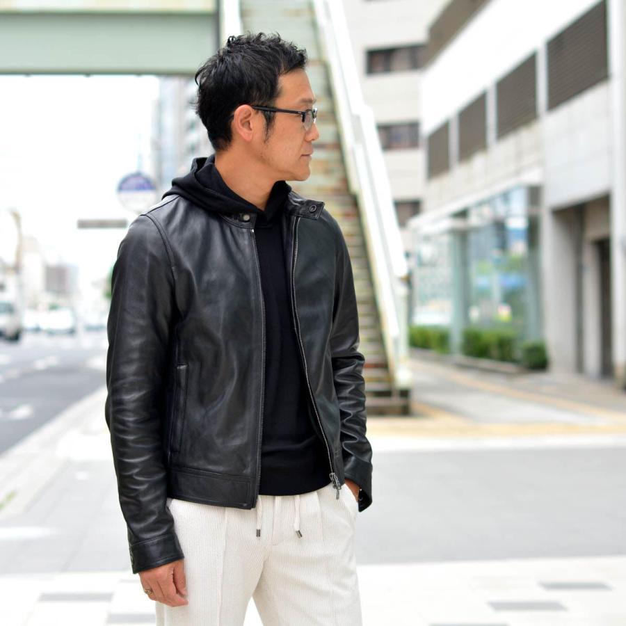 EMMETI【エンメティ】シングルライダース JURI NAPPA CERATA 0.7mm NERO ラムレザー ブラック cinqessentiel 11
