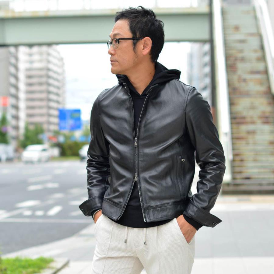 EMMETI【エンメティ】シングルライダース JURI NAPPA CERATA 0.7mm NERO ラムレザー ブラック cinqessentiel 12