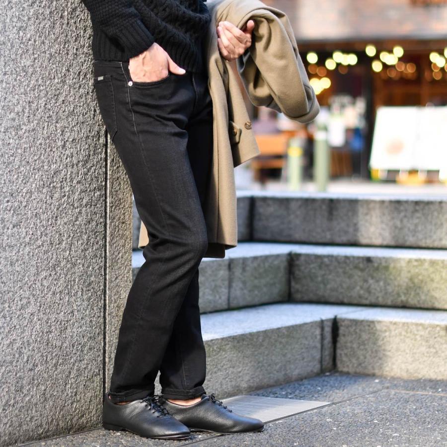 giabsarchivio【ジャブス アルキヴィオ】ストレッチデニム GINS CELLINI 390 コットンポリエステル ブラック cinqessentiel 09