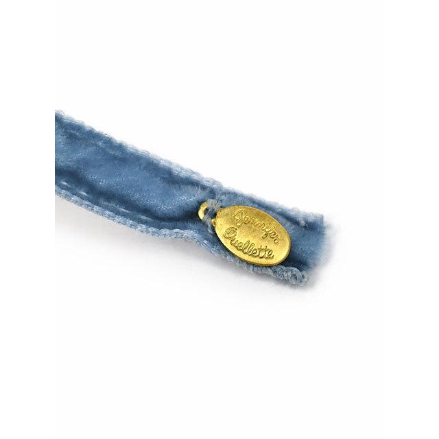 Jennifer Ouellette【ジェニファー オーレット】ベロア細カチューシャ VVSK01 Skinny Velvet ribbon Headband Williamsburg Blue ブルー|cinqessentiel|03