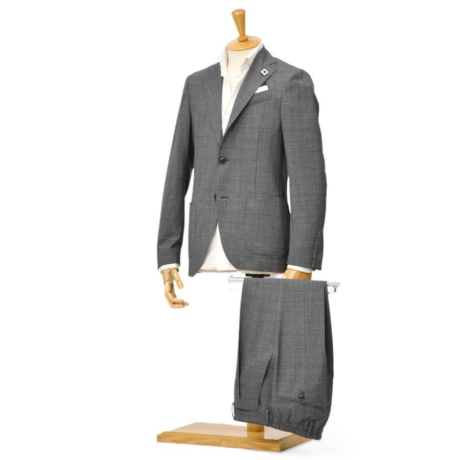 LARDINI【ラルディーニ】パッカブルスーツ グレンチェック EASY JT091AQ/ELEW56713/920BL ウール グレー cinqessentiel