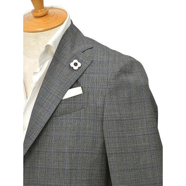 LARDINI【ラルディーニ】パッカブルスーツ グレンチェック EASY JT091AQ/ELEW56713/920BL ウール グレー cinqessentiel 02