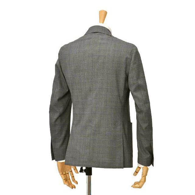 LARDINI【ラルディーニ】パッカブルスーツ グレンチェック EASY JT091AQ/ELEW56713/920BL ウール グレー cinqessentiel 05