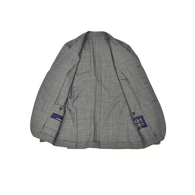 LARDINI【ラルディーニ】パッカブルスーツ グレンチェック EASY JT091AQ/ELEW56713/920BL ウール グレー cinqessentiel 06