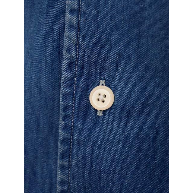 Bagutta【バグッタ】オープンカラーシャツ JOHNNY_GL 08266 050 デニム ウォッシュドインディゴ|cinqueunaltro|04